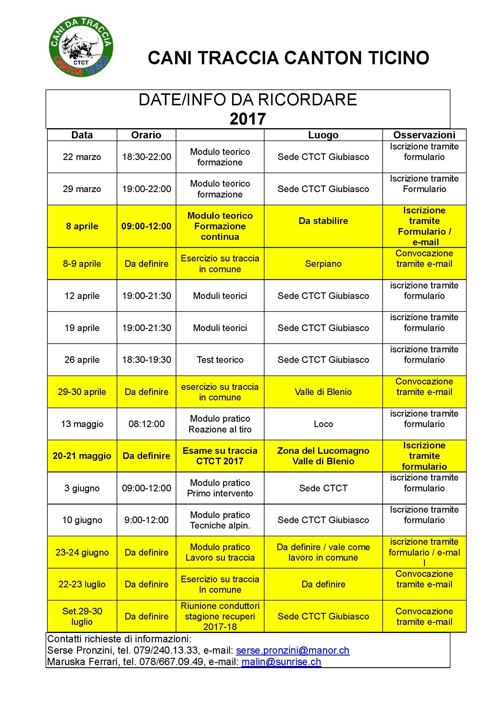 Programma stagione 2017